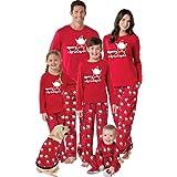 Pigiama Famiglia Indumenti da Notte Abiti Natalizi Tuta Elegante 2PC Uomo Donna Bambini T-Shirt Babbo Natale Tops + Pantaloni