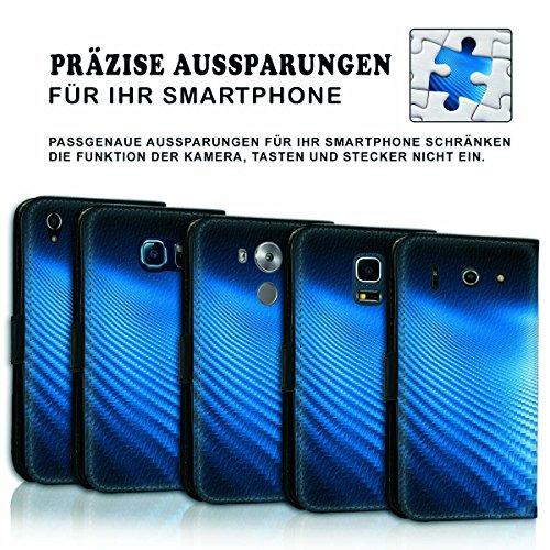 Wallet Book Style Flip Handy Tasche Case Schutz Hülle Schale Motiv Etui für Apple iPhone 6 / 6S - Variante UMV16 Design12 Design 2