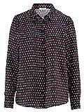 Alba Moda Damen Bluse aus hochwertiger Seide Fließend 42