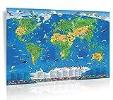 Kinder Weltkarte XXL/1,35 Meter - geosmile