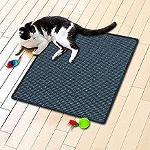 Floori® Sisal Kratzteppich | Naturfaser: nachhaltig und umweltfreundlich | Blau, 60x80cm