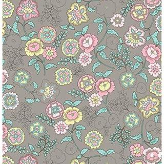 Klebefolie - Möbelfolie Fleur beige Blumen - 45 cm x 200 cm Selbstklebende Folie Blümchen Motiv - Dekorfolie Selbstklebefolie