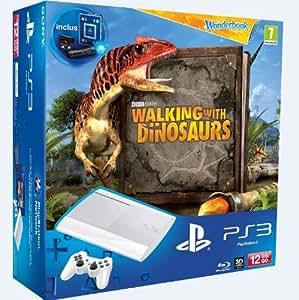 Console 12 Go blanche + Wonderbook : Sur la Terre des Dinosaures + Wonderbook + Pack Découverte Move