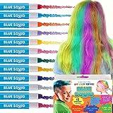 Haarkreide für Mädchen & Jungen - 12 x Lebendige und Auswaschbare Temporäre Haarfarbe für Kinder - Haarfärbe Stifte Set - Für Dunkle oder Blonde Haare – Ungiftig – Hautschonend