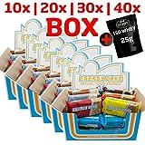 E.L.F Energy Cake - verschiedene Sorten und Mix Box 10x125g, 20x125g, 30x125g, 40x125g + 1 x 25g Beutel Iso Whey GRATIS (MIX-Box, 10 Riegel)