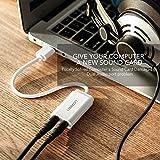 Tarjeta de Sonido USB, UGREEN Tarjeta de Sonido Externa Adaptador Audio y Micrófono 3.5mm para Altavoces, Auriculares y Micrófono