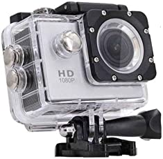Teconica ER-5700 1080P Sports Action Camera Ultra HD Waterproof DV Camcorder 16Mp 170 Degree Wide Angle 2''Inch Display Rechargeable Batteries - Black