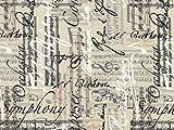 Timeless Treasures Musik Blatt & Notizen Popeline Quilting