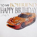 """Best Cartes Boyfriend - White Cotton Cards """"to My Boyfriend Happy Birthday.Enjoy Review"""