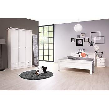 Jugendzimmer Landström 162 weiß 3-teilig Bett 140x200 Schrank ...