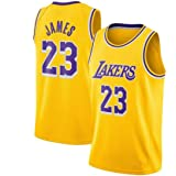 Zxwzzz Uniforme Los Angeles Lakers No.23 Baloncesto, Lebron James Summer Sports NBA Jersey, Adulto Y Uniformes De Baloncesto