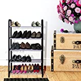 #10: Story @ Home Easy To Assemble & Light Weight, 5 Shelves Free Simple Standing,Foldable Shoe Rack
