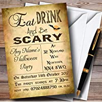 Eat Drink Be Scary Personalised Halloween Party Invitations