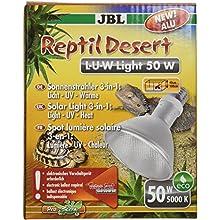 JBL ReptilDesert L-U-W 61891 50 W Aluminium Spot Light for Desert Terrarium