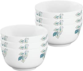 Servewell Tivoli Melamine Veg Bowl Set, 10.5cm, Set of 6, White