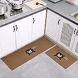 KaO0YaN Estera de Puerta, Soporte Antideslizante, Interior/Exterior Alfombras de Cocina, Puerta de Entrada, Almohadilla Absorbente, Juego de alfombras de baño, marrón 2