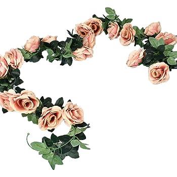 DOXMAL Deko Aquarium Deko Blumen Künstliche Blumen Deko Garten Vintage Deko  Wohnzimmer Deko Wohnzimmer Rosen Deko Hochzeit Champagner