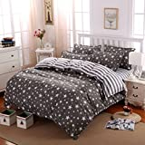 #1: 4 Piece Combo Set of Double Luxurious Reversible Comforter and Premium Elegant Bedsheets with 2 Pillow Covers (1 DOUBLE SIZE COMFORTER+1 BEDSHEET )