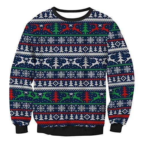 Weihnachten Erwachsene Sweatshirt (TUWEN WeihnachtskostüM Sweatshirt Weihnachten Bluse Erwachsene Dame)