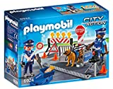 Playmobil Policía Police Roadblock Playset, (6924)