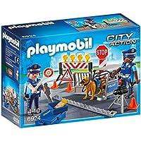 Playmobil Policía Police Roadblock Playset, (6924)