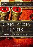 CAPLP 2015 à 2018 Sujets de mathématiques