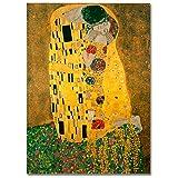 LaMAGLIERIA Poster Alta qualità - Klimt Il Bacio - su Carta Lucida Fotografica - Grande Formato, 30cmx40cm