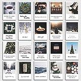 Postkarten Set Christmas - 20 Sprüche Karten für Weihnachten im retro Polaroid Style von INDIVIDUAL NOMAD