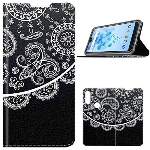 Wiko View 2 Pro Hülle, GeeMai Premium Flip Case Tasche Cover Hüllen mit Magnetverschluss [Standfunktion] Schutzhülle Handyhülle für Wiko View 2 Pro Smartphone, CH01