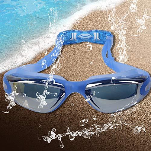 HSXHSMY Unisex-Schwimmbrille für Erwachsene, Keine Leckage, Antibeschlag, wasserdicht, Anti-UV-Schutzbrille, klare Sicht