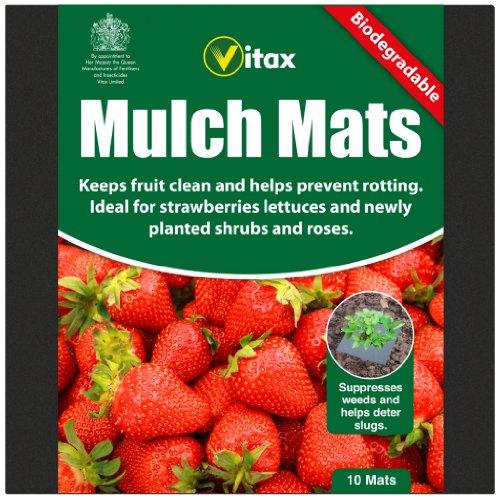 vitax-lot-de-10-tapis-de-paillis-biodegradables-ideal-pour-fraises-laitues-arbustes-roses