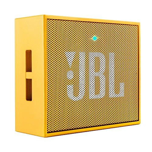 JBL Go Ultra Wireless Bluetooth Lautsprecher (3,5mm AUX-Eingang, geeignet für Apple iOS und Android Smartphones, Tablets und MP3 geräten) gelb
