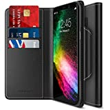 Maxboost Galaxy S8 Plus Wallet Case [Folio Style] [Stand Feature] Samsung Galaxy S8+ / s8 plus Card Case (2017) [Black] Premium Protective PU Leather Flip Cover w/ Card Slot Side Pocket Magnetic