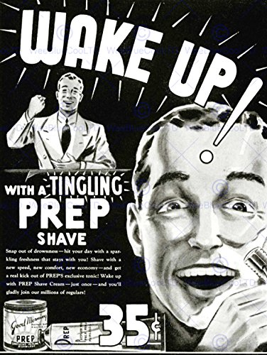 advert-shave-prep-bathroom-black-white-razor-wake-up-30x40-cms-fine-art-print-affiche-imprimer-art-p