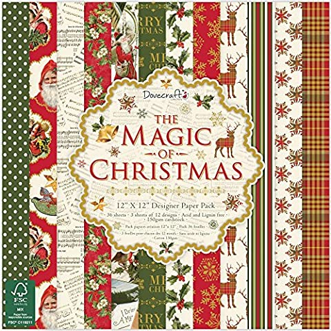 Dovecraft Christmas Collection - The Magic of Christmas Paper Pack 12