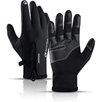 MingLaken Cycling Gloves,Winter Thermal Gloves Touch Screen Waterproof Gloves,Mountain Bike Gloves,Full Finger with Anti…