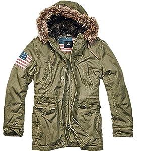 Brandit Herren Vintage Explorer Stars + Stripes Jacke