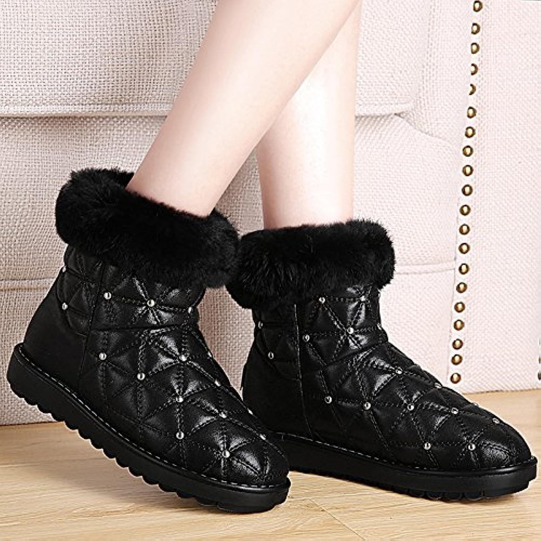 GTVERNH-Invierno nieve botas mujeres estudiantes coreanos todo el partido tubo corto corto botas y zapatos algodon...