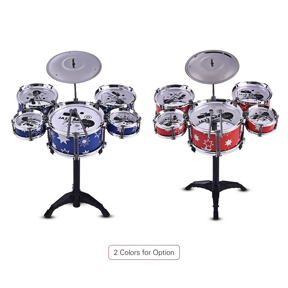 Muslady Children Kids Jazz Drum Set Kit Musical Educational
