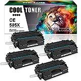 Cool Toner 4 Packs Kompatibel für Toner CE505X 05X Kompatibel für HP Laserjet P2055 HP Laserjet P2055D HP Laserjet P2055DN HP Laserjet P2055X ,6500 Seiten