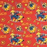 Stoffe Werning Baumwollstoff Lizenzstoff Feuerwehrmann Sam Rot Kinderstoffe TV Serie Öko-Tex - Preis Gilt für 0,5 Meter für Stoffe Werning Baumwollstoff Lizenzstoff Feuerwehrmann Sam Rot Kinderstoffe TV Serie Öko-Tex - Preis Gilt für 0,5 Meter