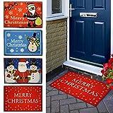 Top Home Solutions Rutschfeste Fußmatte, verschiedene Weihnachts-Designs erhältlich, 40x 60cm Santa & Snowmen