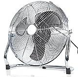 Stand-Ventilator Boden-Ventilator Chrom-Design Leise Metall-Windmaschine 40 cm Durchmesser 3-Stufen