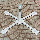 GIARDINI DEL RE Base a Croce per Ombrellone, Bianco, 50x50x33 cm