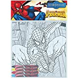 Puzzle coloreable + ceras Spiderman Marvel