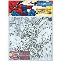 Puzzle coloreable + ceras Spiderman Marvel