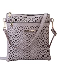 HENGSONG Sacs à Bandoulière Femme Rétro Style PU Cuir Sac à Main,Messenger Sac Voyage/Shopping Sac Kaki