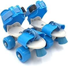 EUPHORIC INC Adjustable Indoor/Outdoor Quad Dry Roller Skates for Girls and Boys Age Group 5-12 Years (Multi Color)
