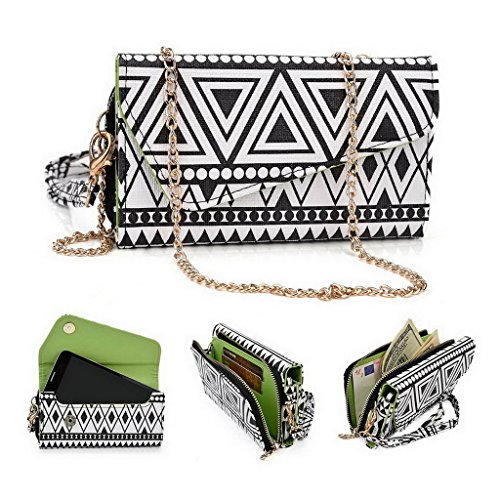Kroo Pochette/étui style tribal urbain pour Allview Impera S/X2 Soul Multicolore - White with Mint Blue Multicolore - Noir/blanc