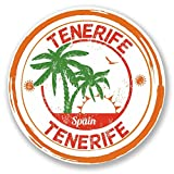2x Teneriffa Spanien Vinyl Aufkleber Aufkleber Laptop Reise Gepäck Auto Ipad Schild Fun # 6102 - 10cm/100mm Wide
